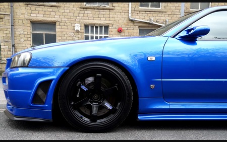 BNR34 Bayside blue Super Spec 2.8 serious piece of kit