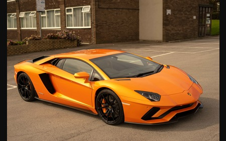 Huge Spec Lamborghini Aventador S in Arancio Atlas with Nero Ade
