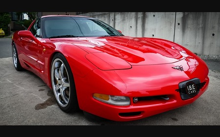 Red Chevrolet Corvette C5 Fresh import Awesome and Clean example